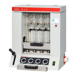 behrotest® CF 2+2 Semi-automatic Crude Fibre Extraction Unit